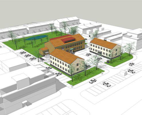 Esplanaden i Lomma: Nyproduktion av kontorslokaler, kontorshotell